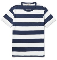 Alex Mill Ocean Slim Fit Striped Slub Cotton Jersey T Shirt Blue