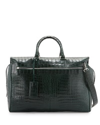 Santiago Gonzalez Crocodile Duffle Bag Green