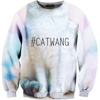 Aloha From Deer Cat Wang Sweater Grey