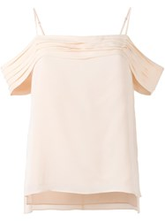 Alexander Wang T By Cold Shoulder Top Yellow Orange