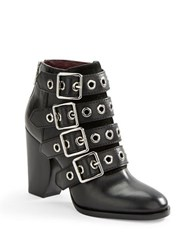 Marc By Marc Jacobs Marnie Buckled Leather Ankle Boots Black