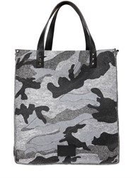 Valentino Camouflage Printed Cotton Felt Bag