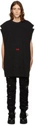 Hood By Air Black Thermal Poster Tank Top