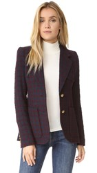 Smythe Two Button Blazer Navy Maroon