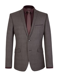 Limehaus Check Notch Collar Slim Fit Suit Jacket Charcoal