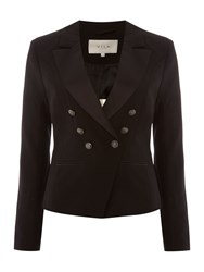 Vila Long Sleeve Button Blazer Black