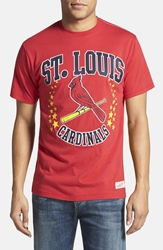 Mitchell And Ness 'St. Louis Cardinals Shooting Stars' Tailored Fit T Shirt Scarlet Red