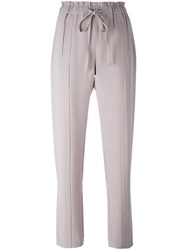 Steffen Schraut Drawstring Straight Leg Trousers Grey
