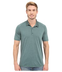 Icebreaker Sphere S S Polo Canoe Heather Canoe Men's Short Sleeve Pullover Green