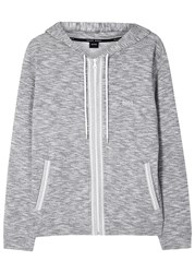 Boss Grey Melange Hooded Cotton Sweatshirt