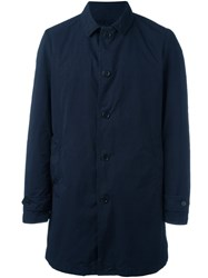 Aspesi Single Breasted Coat Blue