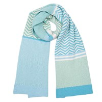 Green Thomas Chevron Scarf Mint Mix