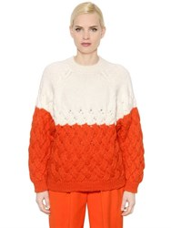 Delpozo Intarsia Alpaca And Merino Wool Sweater