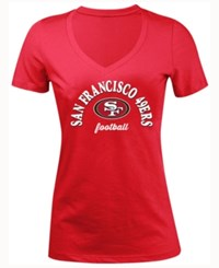 5Th And Ocean Women's San Francisco 49Ers Checkdown Le T Shirt Red