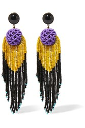 Etro Beaded Earrings Purple