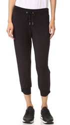 Beyond Yoga Kate Spade Relaxed Cropped Bow Sweatpants Black