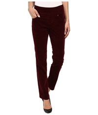 Jag Jeans Petite Peri Pull On Straight Wale Corduroy Elderberry Women's Casual Pants Red