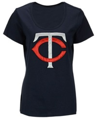 '47 Brand Women's Minnesota Twins Relaxed T Shirt Navy