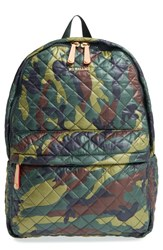 M Z Wallace Mz 'Metro' Quilted Oxford Nylon Backpack Green Camo