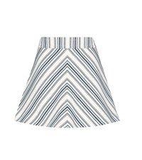 See By Chloe Cotton And Linen Striped Miniskirt White