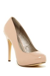 Michael Antonio Love Me Patent Pump Beige