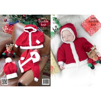 King Cole Comfort Dk Baby Christmas Jumper And Hat Knitting Pattern 3803