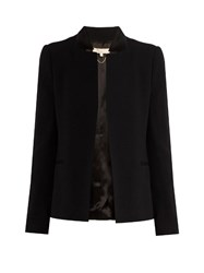 Vanessa Bruno Fadia Single Breasted Crepe Jacket Black