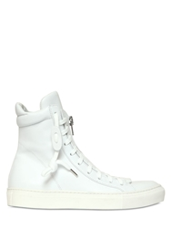 The Last Conspiracy Tetsu Horse Leather High Top Sneakers White