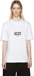 Hood By Air White Lowercase T Shirt