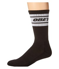 Obey Cooper Deuce Socks Black White Men's Crew Cut Socks Shoes