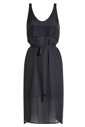 Alexander Wang T By Silk Dress With Belted Waist Black