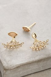 Anthropologie Almond Leaf Earrings Copper