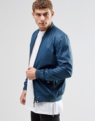 Pretty Green Bomber Jacket In Navy Blue