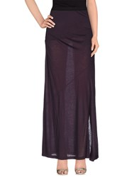Pinko Grey Skirts Long Skirts Women Dark Purple