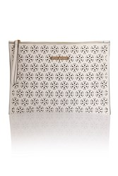 Little Mistress White Cut Out Pu Flat Clutch