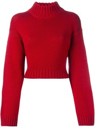 Dkny Roll Neck Jumper Red