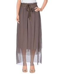 Lou Lou London Skirts Long Skirts Women Khaki