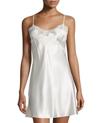 Natori Jasmine Lace Trim Chemise Warm White