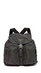 Wgaca Prada Small Nylon Backpack Previously Owned Black