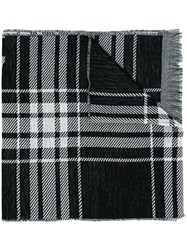 Mcq By Alexander Mcqueen Checked Scarf Black