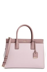 Kate Spade New York Cameron Street Candace Leather Satchel White Nouveau Neutral Porcini