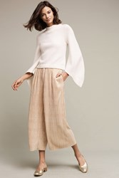 Anthropologie Gilded Culottes Gold