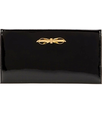 Ted Baker Annica Patent Metal Bow Travel Wallet Black