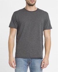 Roscoe Mottled Charcoal Ted Round Neck T Shirt Grey