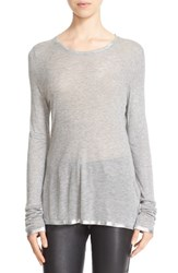 Zadig And Voltaire Women's Willy Foil Tee Gris Chine