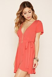 Forever 21 Chiffon Self Tie Wrap Dress