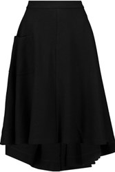 Y 3 Paneled Wool Skirt Black
