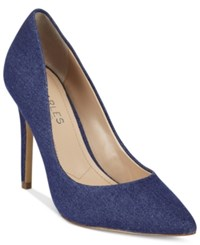 Charles By Charles David Pact Leather Pumps Women's Shoes Lagoon Denim