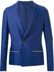 Haider Ackermann Single Button Blazer Blue