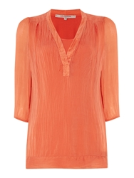 La Fee Maraboutee Voile Jacket 3 4 Length Sleeves Orange